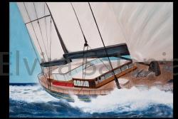 Fra le onde – acrilico – cm 50x70 - Elvira Salonia