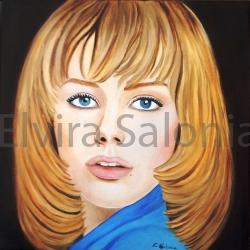 Giulia – olio – cm 40x40x3,5 - Elvira Salonia