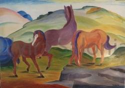 I cavalli di Marc – olio – cm100x70