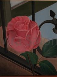 """""""L'importante è la rosa"""" - acrilico – cm 40x50x3,5"""