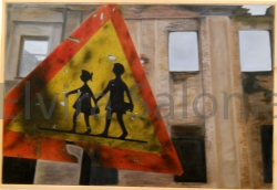 """""""Il futuro come bersaglio"""" – olio – cm 93x63 (collezione privata) - Elvira Salonia"""
