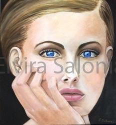 Laura – olio – cm 40x37x3,5 - Elvira Salonia