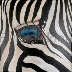 """""""Negli occhi la savana"""" – acrilico – cm 40x40"""