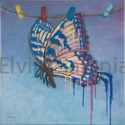"""""""Farfalla"""" – acrilico – cm 30 x30 (collezione privata) - Elvira Salonia"""