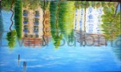 Riflessi sul mare – olio – cm 100x60x4 (collezione privata) - Elvira Salonia