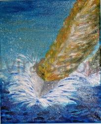 Vela gialla – acrilico – cm 25x30 - Elvira Salonia