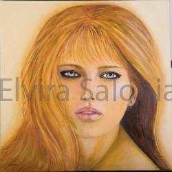 Agosto 2006 – olio – cm 40x40x3 (collezione privata) - Elvira Salonia
