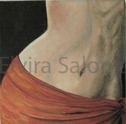 l'ombelico del mondo – olio cm 30x30x3 - Elvira Salonia