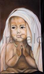 Omaggio a Giovanni Paolo II – olio – cm 60xx35x3 (collezione privata) - Elvira Salonia