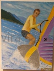 Windsurf – acrilico – cm 30x40 - Elvira Salonia